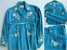 RESERVED for izaro bo Fay Ward Cowboy Tailors 1950s vintage