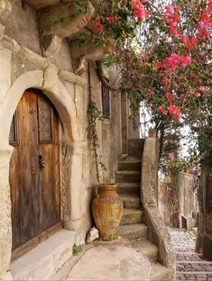 """la-sicilienne: """" Forza d'Agro, Sicily By """" Beautiful World, Beautiful Places, Beautiful Pictures, Old Doors, Windows And Doors, Stairways, Paths, Places To Go, Nature Photography"""