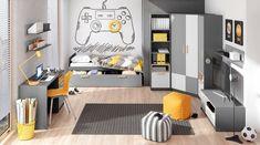 Kids Bedroom Sets, Small Room Bedroom, Modern Bedroom, Bedroom Decor, Home Entrance Decor, Home Decor, Gamer Bedroom, Decoration, House Ideas