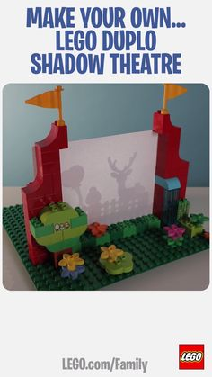 This LEGO DUPLO Shadow Theatre is a great way to teach your little performer about light and shade, and you can experiment with all different kinds of actors and storylines. (You know that one about the duck, the fish and the firehose, right?) Click to learn more!