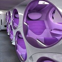 'Air Lair' Is The Latest Concept In Airplane Seating By FactoryDesign And Contour Aerospace: The Double-decker Pods.