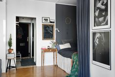 small gray scandinavian apartment 10