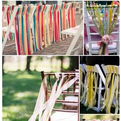 ribbon chairs are a must.
