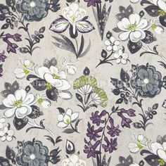 Lotus Flower - Charcoal designers guild graham sanderson