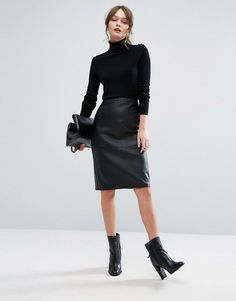 ce50f682ba 9 Best Faux leather pencil skirt images