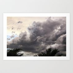 Stormy Sky Art Print by Bobbi Lewin - $18.00 the summer sky over Fort Collins, Colorado