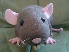 Sock rat, no tutorial, just inspiration