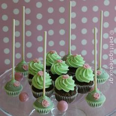 Cupcakes and cake pops for a christening! Cupcakes, Cake Pops, Christening, Events, Desserts, Food, Cake Pop, Happenings, Tailgate Desserts