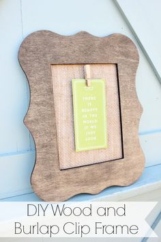 Diy Wood And Burlap Clip Frame Plaidcrafts Madewithmichaels Crafts
