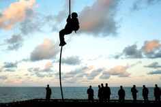 Rappelling Silhouettes......