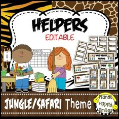 This is a set of 66 classroom jobs plus table captains in a Jungle/Safari theme (No animals) that you can use in your classroom. There is a header that you can put above the cards. You can decide which jobs that you use in your class. They can be stapled to a bulletin board or used in a pocket chart.
