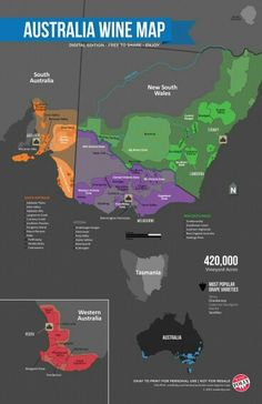 #Australia #wine #map  www.winewizard.co.za