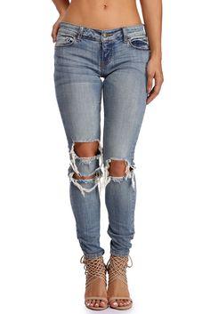 Denim Kickback Skinny Jeans | WindsorCloud