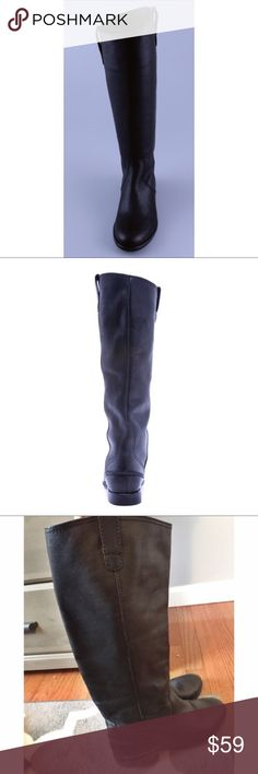 Madewell Archive Leather Riding Boots Great, gently worn condition. These are an extended calf! Such cute boots to dress up leggings. Madewell Shoes Winter & Rain Boots