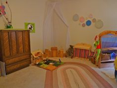 Natural Wooden Toys by Elves and Angels - Toy Barn, Castle and Dolly Changing table