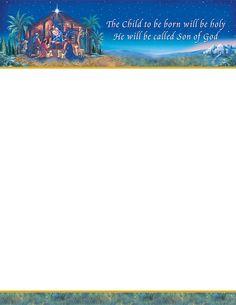 Seasonal Letter Head | products seasonal christmas stationery sets nativity letterhead back ...