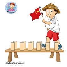 Gymles voor kleuters, thema China, kleuteridee