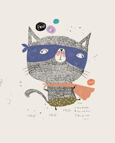 cat illustration | super cat