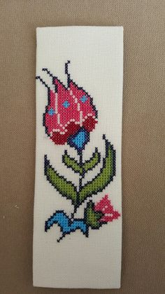 Kanevice kitap ayracı - cross stitch bookmark
