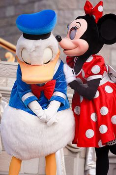 Why are you kissing Donald instead of Mickey? *Cries in spanish* (idk why tbh, just felt like it) Walt Disney, Disney Love, Disney Magic, Disney Parks, Disney Pixar, Disney Fanatic, Disney Addict, Mickey Mouse And Friends, Disney Mickey Mouse