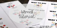bitmoji sticker tutorial - Teaching and Much Moore Bitmoji Stickers, Teacher Hacks, Teacher Stuff, Spelling Test, Primary Classroom, Third Grade, Classroom Management, Back To School, About Me Blog