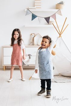 Childrens Linen Apron | MagicLinen
