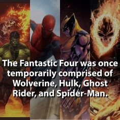 That's one SWEET Team! New Fantastic Four #unstoppable #wolverine #spiderman #hulk #ghostrider #marvel by marvelousfacts