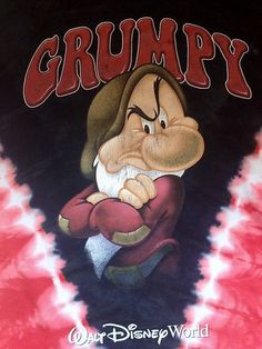 Mouse over image to zoom Have one to sell? Sell it yourself Grumpy Disney Shirt Mens T Snow White World Walt Dwarfs Medium M Red Blue White Grumpy Dwarf, Grumpy Cat, Watch Cartoons, Disney Cartoons, Disney Character Sketches, Snow White Prince, Funny Adult Memes, Snow White Seven Dwarfs, 7 Dwarfs