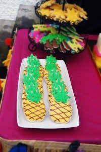 pineapple Sugar Cookies, Hazels Big Luau, The Cheerio Diaries, First Birthday, Luau, Hawaiian Theme