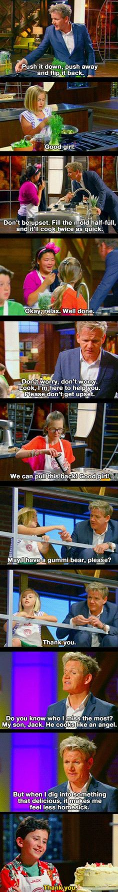 How Gordon Ramsay deals with kids. SO CUTE!! ^.^ see he really is a nice guy