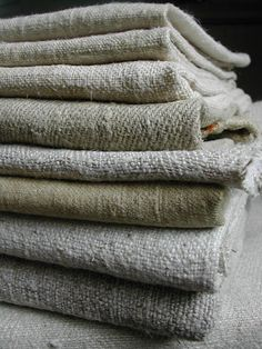 Late 18th and 19th century German hemp and French chanvre. via La Pouyette....: Old Linen - Part 2