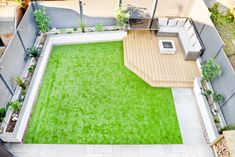 Modern back garden makeover, before and after. Garden ideas Avoid typical … Modern back garden makeover, before and after. Back Garden Design, Modern Garden Design, Small Garden Ideas Modern, Small Square Garden Ideas, Small Garden Inspiration, Backyard Patio Designs, Small Backyard Landscaping, Small Backyard Design, Backyard Ideas