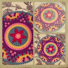 Mandala coaster hama beads by ashaschoonheid