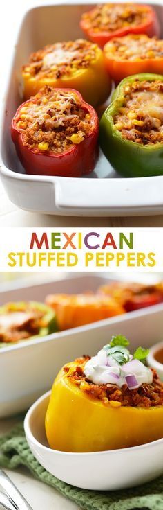 Looking for a show-stopping dinner recipe that's packed with lean protein and vegetables? Make these delicious Mexican Stuffed Peppers; you won't be disappointed!