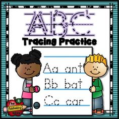 FREE ABC Tracing Practice: This set includes 1 notebook cover page and 26 tracing pages - one for each letter of the alphabet. (affiliate)