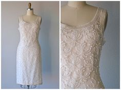Vintage 1980's SCALA Cocktail Party Wedding Dress by @LedbellyVintage  #vintage #vintageshop #weddingdress #weddinggown #cocktaildress #bridal #weddings #partydress