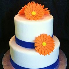 Gerber Daisy Wedding Shower Cake • View on Flickr