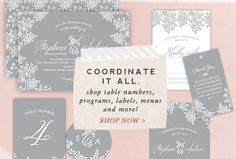 Coordinate it all - Shop full wedding stationery sets