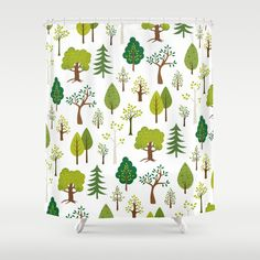 Trees Shower Curtain by Melissa Held Designs | Society6