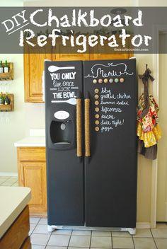 The Kurtz Corner: DIY Chalkboard Refrigerator
