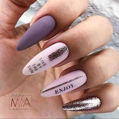 Almond Acrylic Nails, Summer Acrylic Nails, Cute Acrylic Nails, Cute Nails, Wow Nails, Nails Now, Perfect Nails, Gorgeous Nails, Nail Color Trends