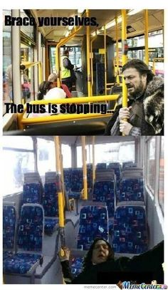 Meanwhile, Snape in the back of the bus... THIS IS MY NEW FAVOURITE THING EVER!!!!!