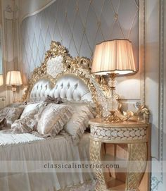 Italian Royal classic bedroom furniture - Top and Best Italian Classic Furniture