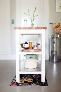 Small kitchen island from Ikea - I have this and will be painting it the same.