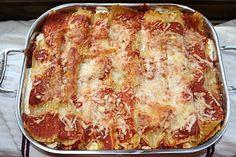 Lasagna with salami and hard boiled egg