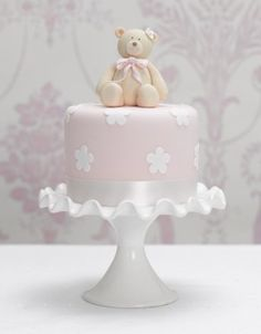 baby shower cake but with baby instead of bear
