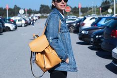 Street style denim jacket