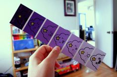 I have ten thousand paint swatches and I think this would be great to do with my purple ones