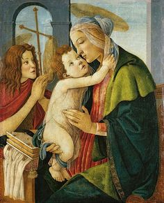 Sandro Botticelli (Italian artist, 1445-1510) Virgin and Child with young John the Baptist c 1490