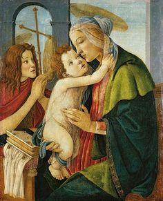 Sandro Botticelli (Italian artist, 1445-1510) Virgin and Child with young John the Baptist c 1490